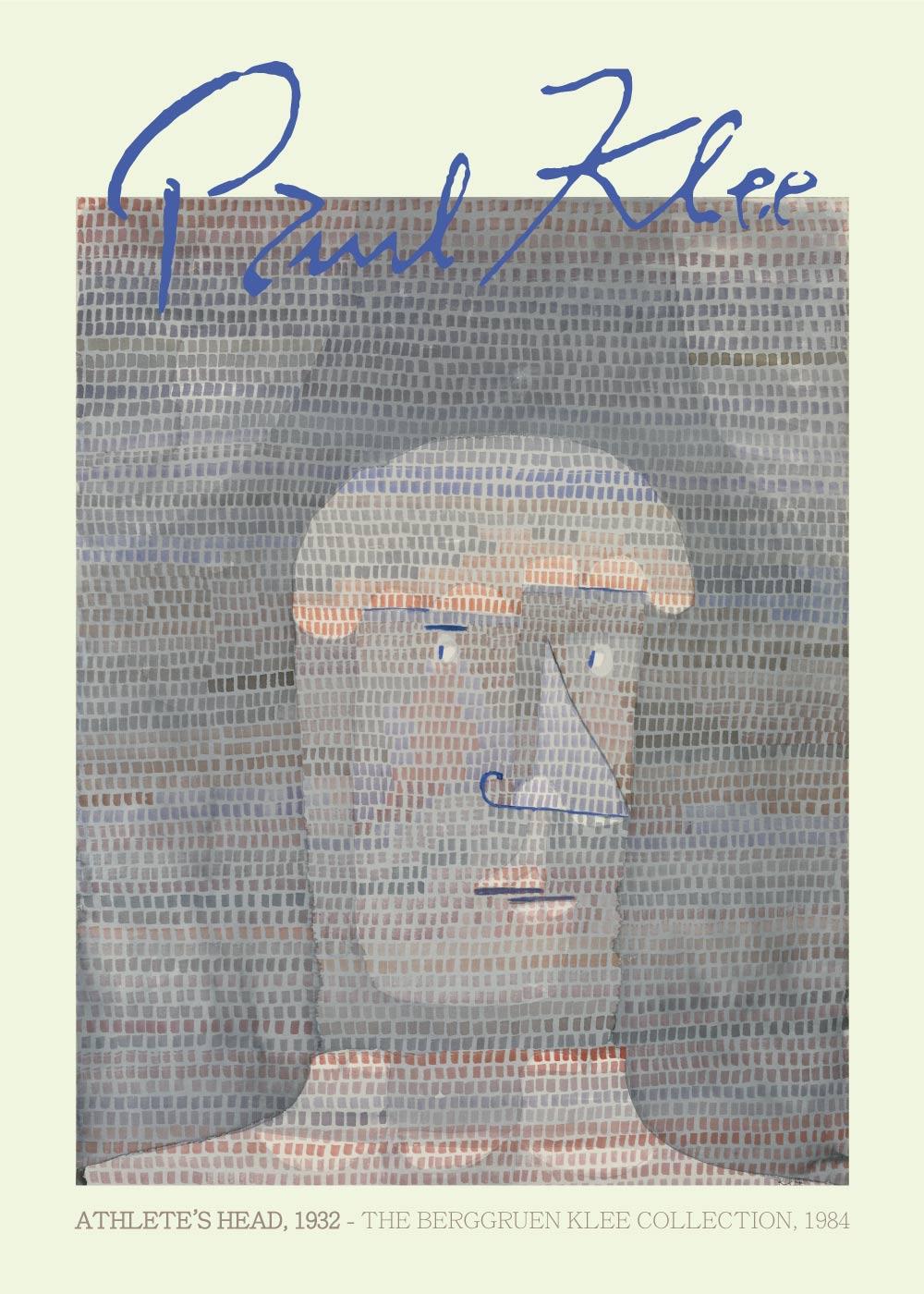 Billede af Athlete's head - Paul Klee Kunstplakat