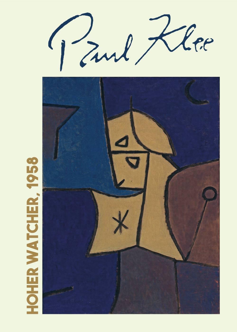 Billede af Hoher watcher - Paul Klee Kunstplakat