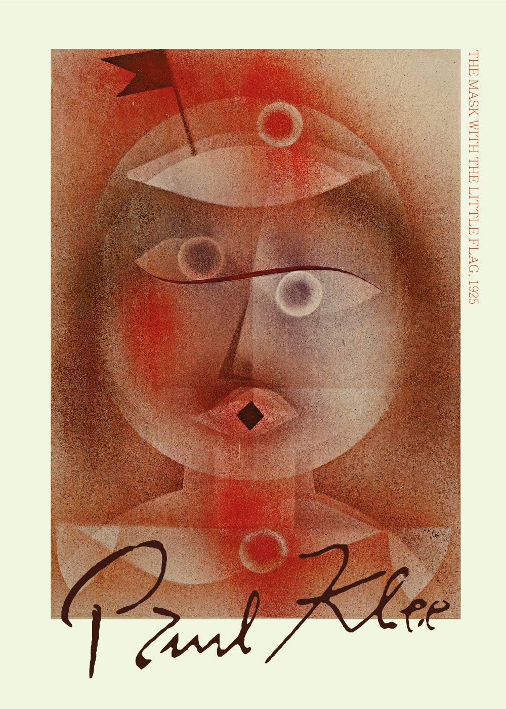 Billede af The mask with the little flag - Paul Klee Kunstplakat