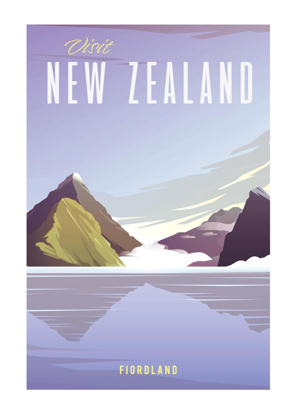 Visit New Zealand - rejse plakat