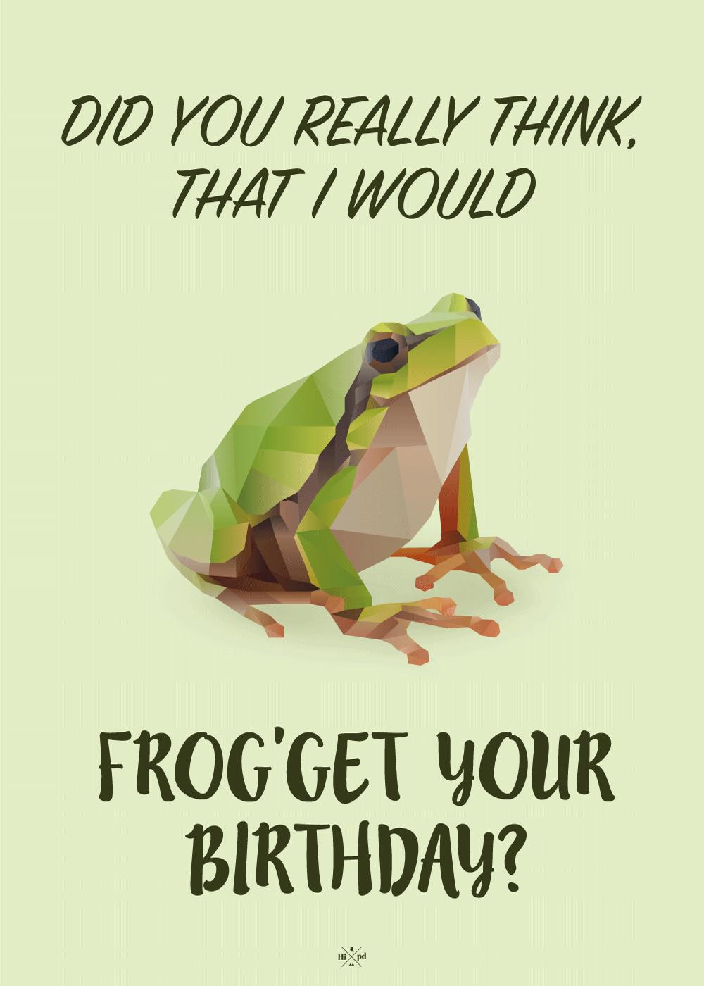 Billede af Frog'get your birthday