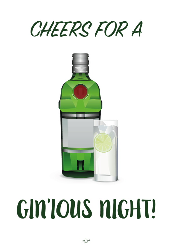 Cheers for a gin'ious night