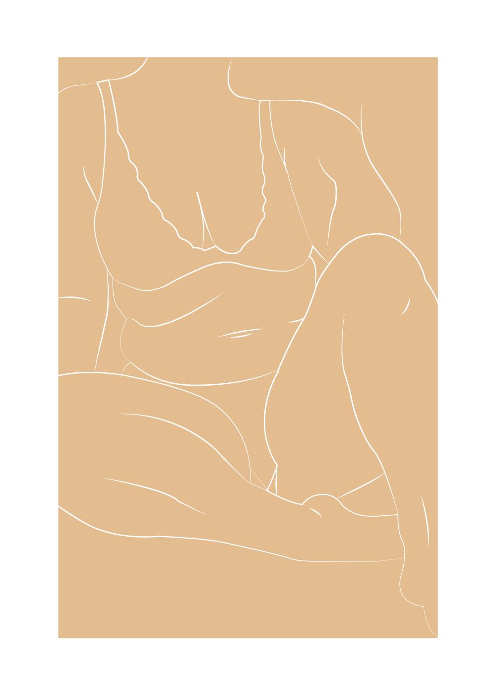 Billede af Sarah Frost - Body positivity plakat i brun