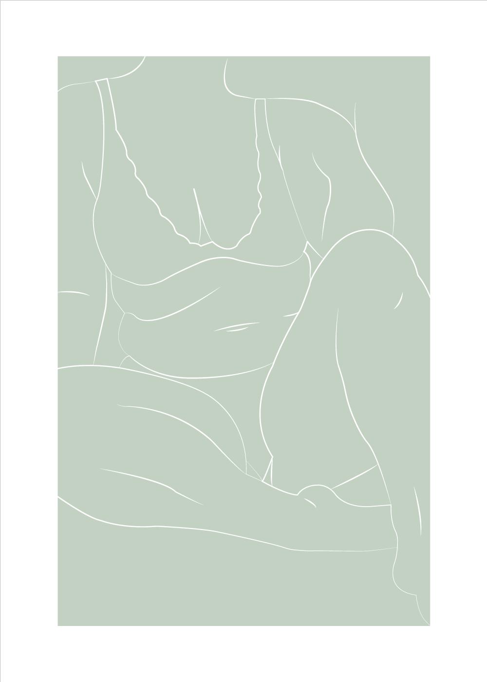 Sarah Frost - Body positivity plakat i grøn