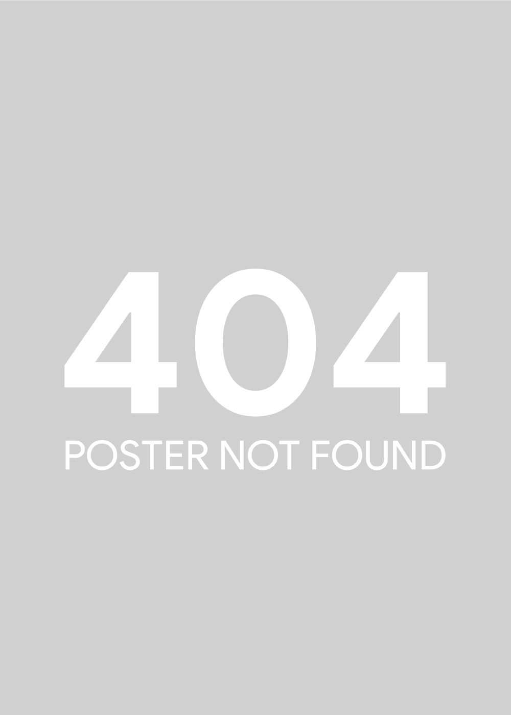 404 poster not found plakat