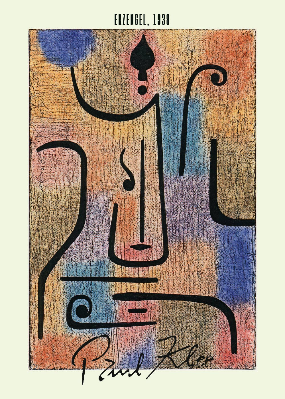 Billede af Erzengel - Paul Klee Kunstplakat