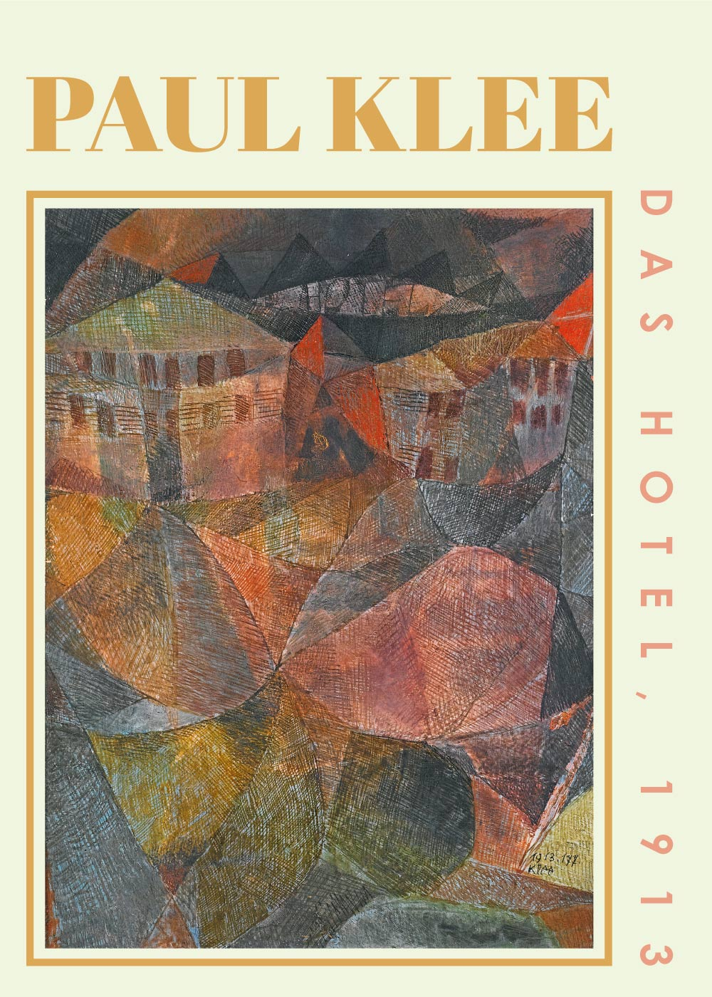 Billede af Das Hotel - Paul Klee Kunstplakat