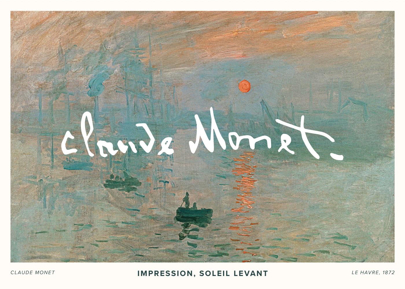 Billede af Soleil Levant - Claude Monet