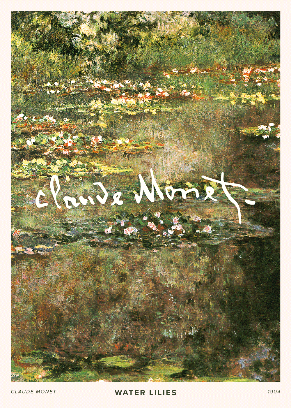 Billede af Lilies 1904 - Claude Monet