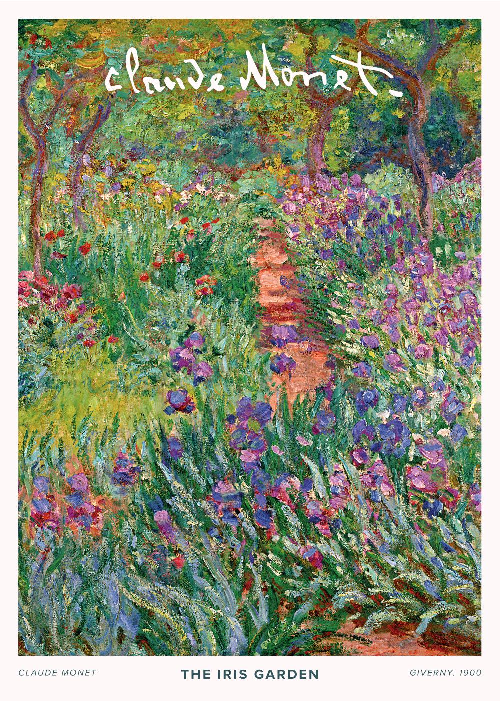 Billede af The iris garden - Claude Monet