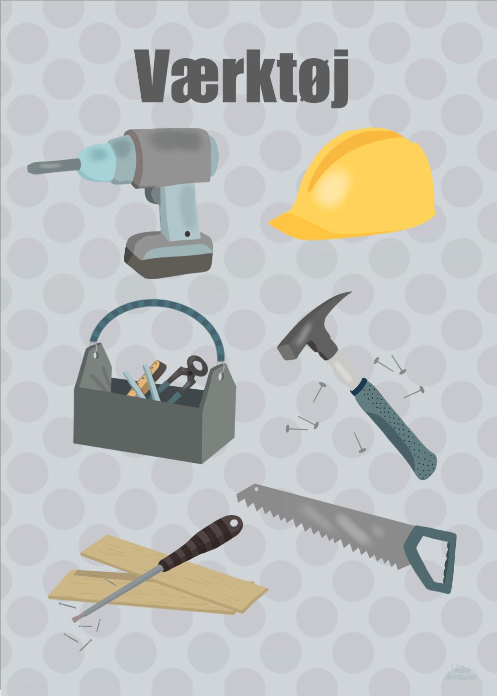 Værktøj - Børneplakat