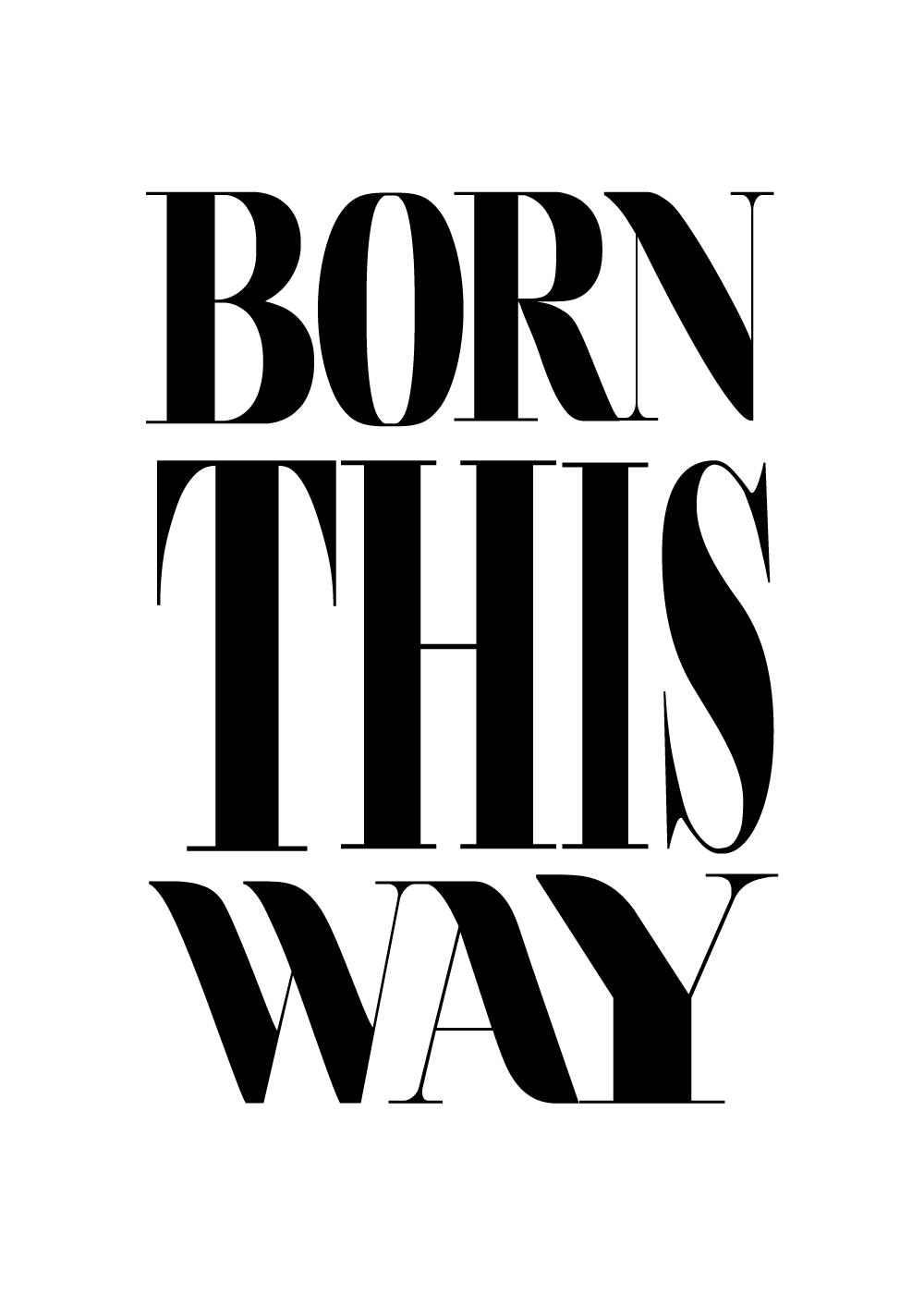 Billede af Born this way - Pride plakat