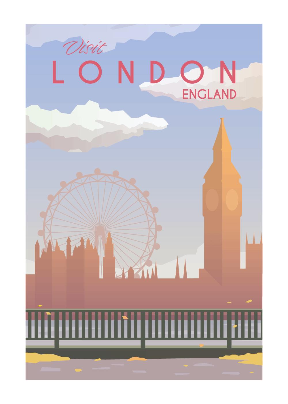 Visit London - rejse plakat