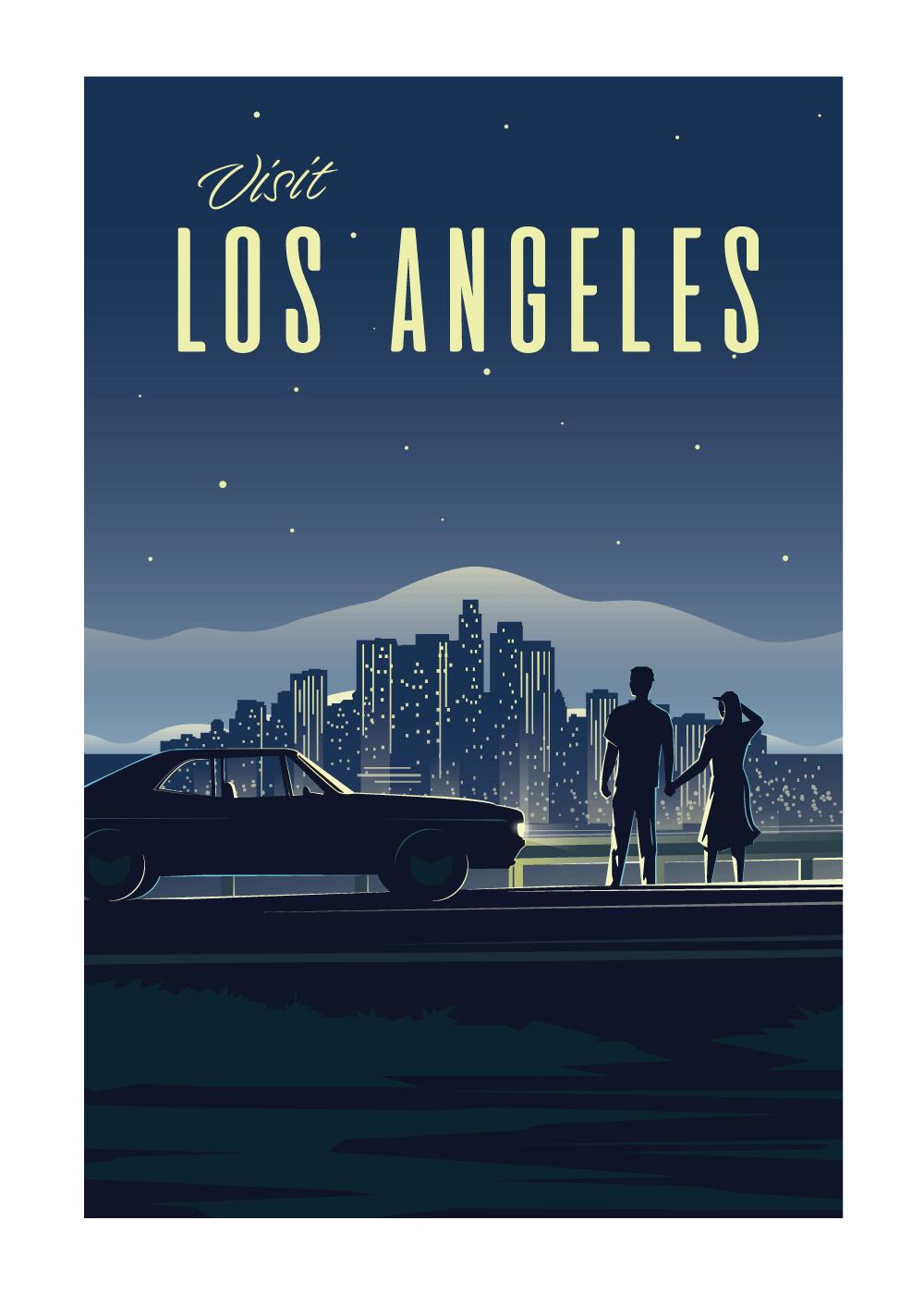 Visit Los Angeles - rejse plakat