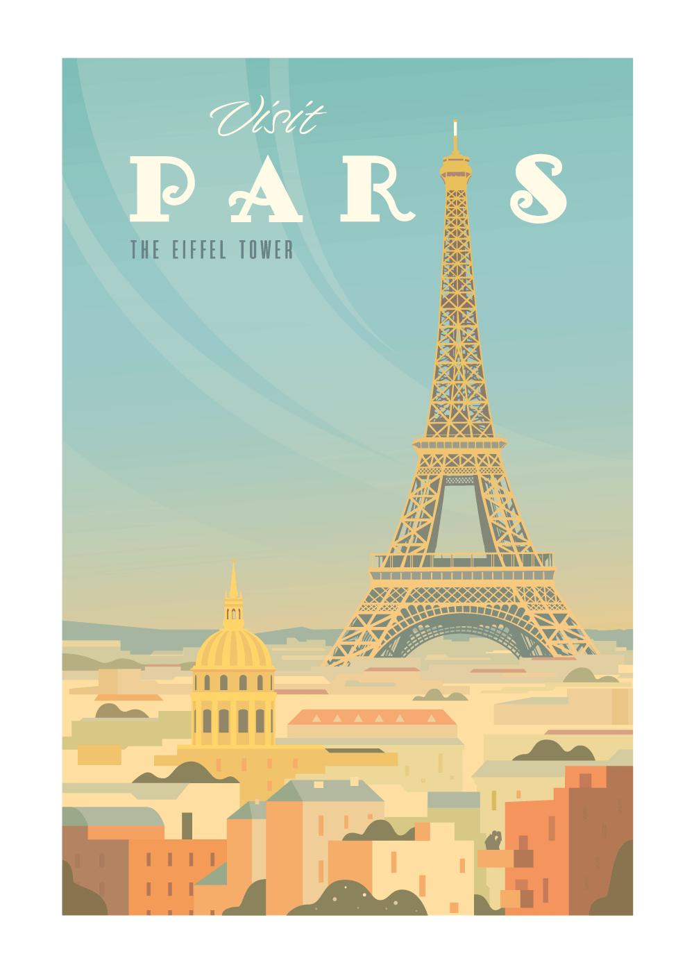 Visit Paris - rejse plakat