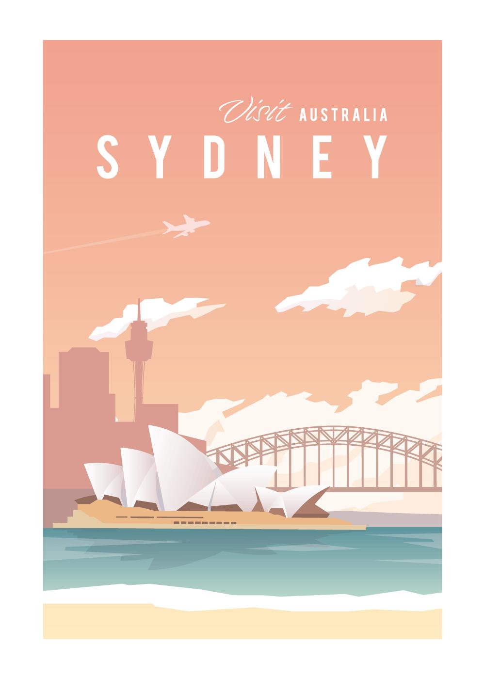 Visit Sydney - rejse plakat
