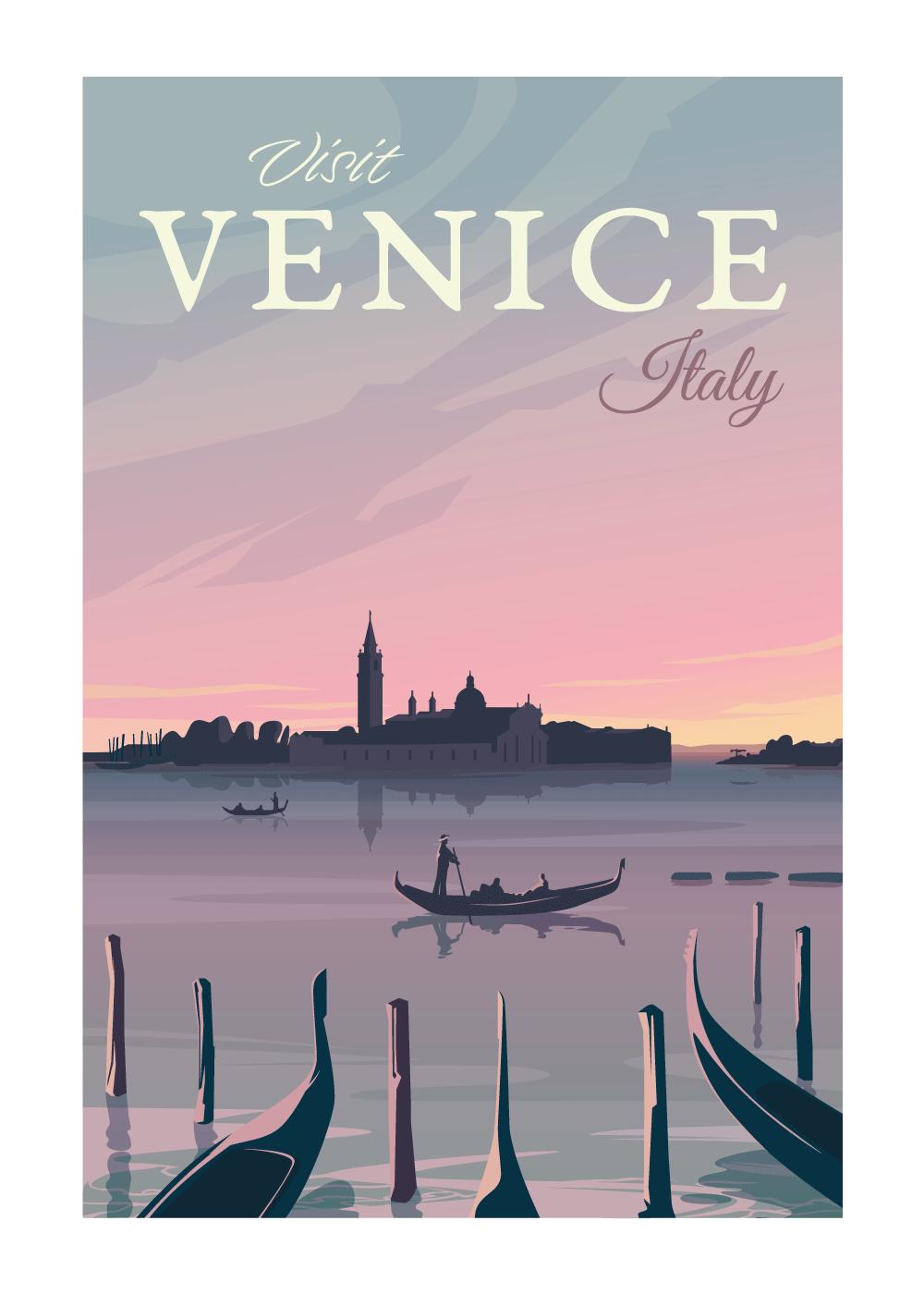 Visit Venice - rejse plakat