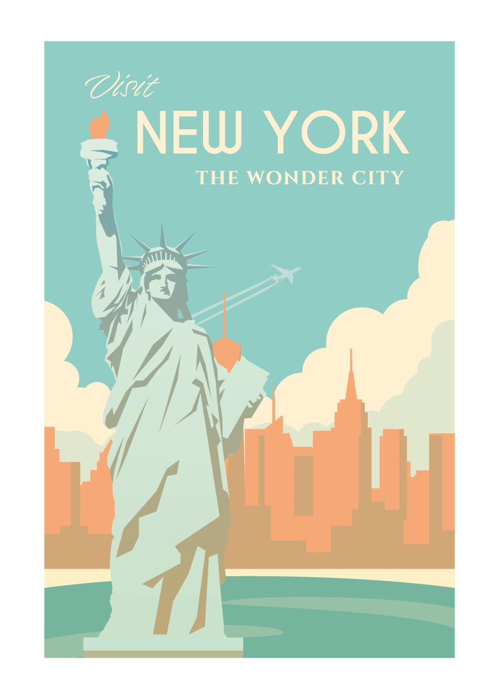 Visit New York - rejse plakat