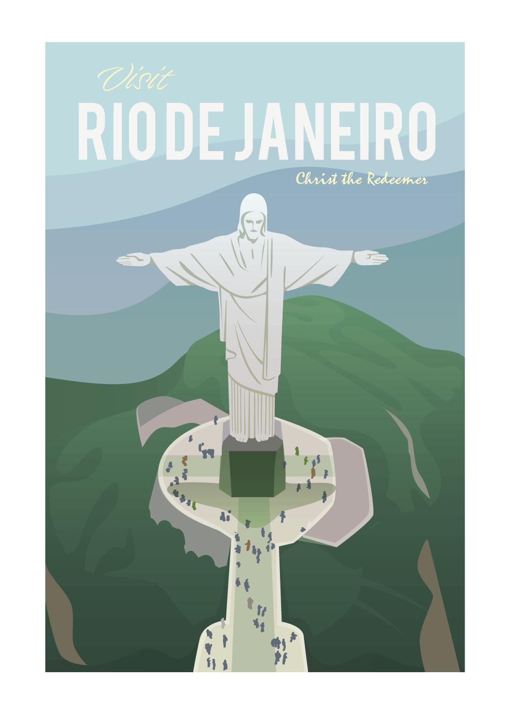 Visit Rio De Janeiro - rejse plakat