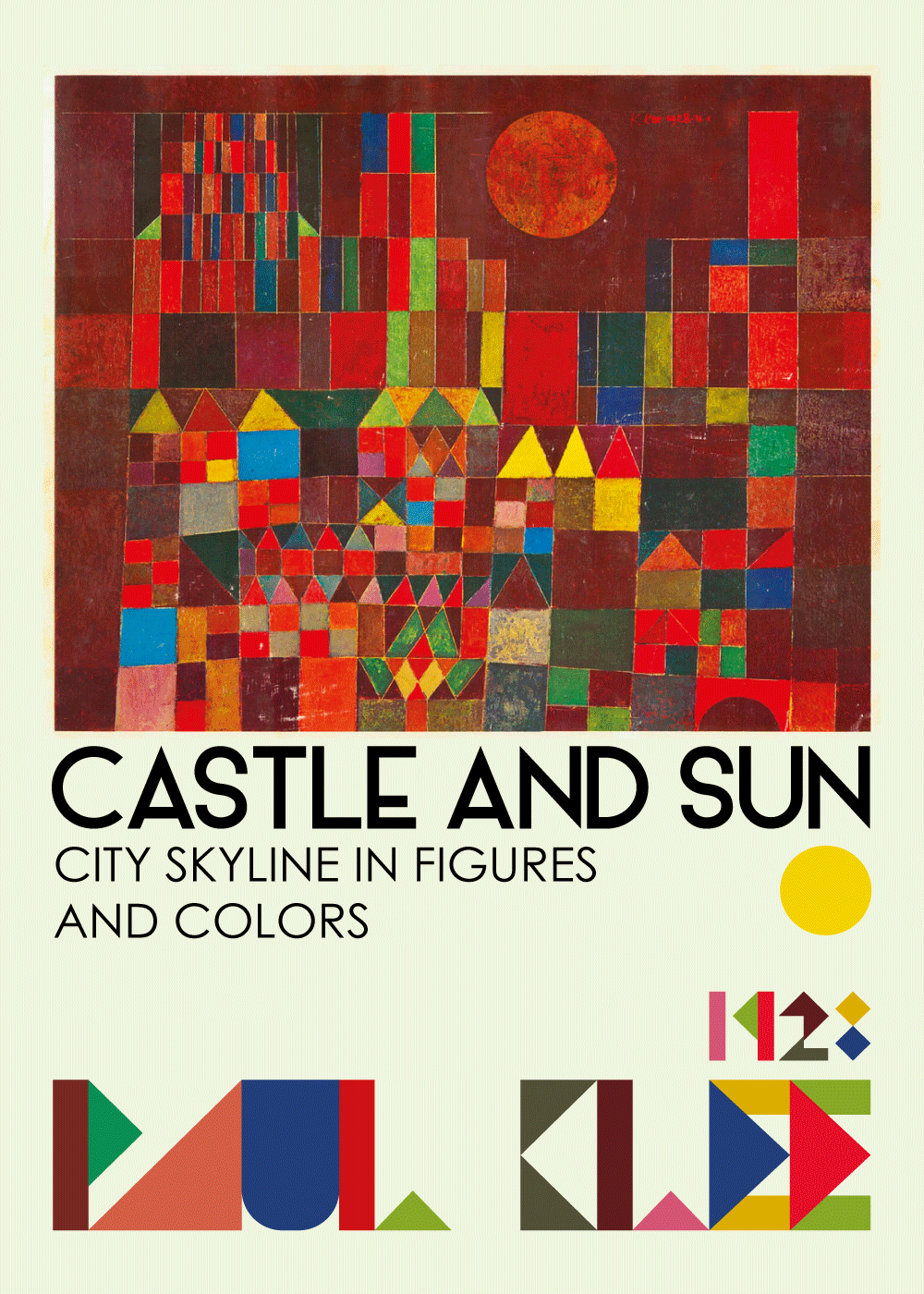 Castle and sun - Paul Klee kunstplakat