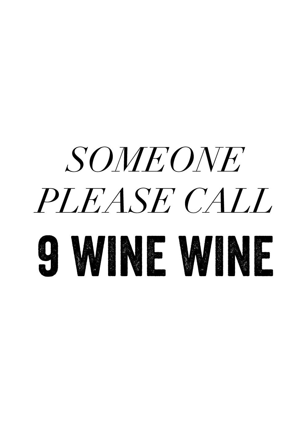 Billede af 9 wine wine - Vin plakat