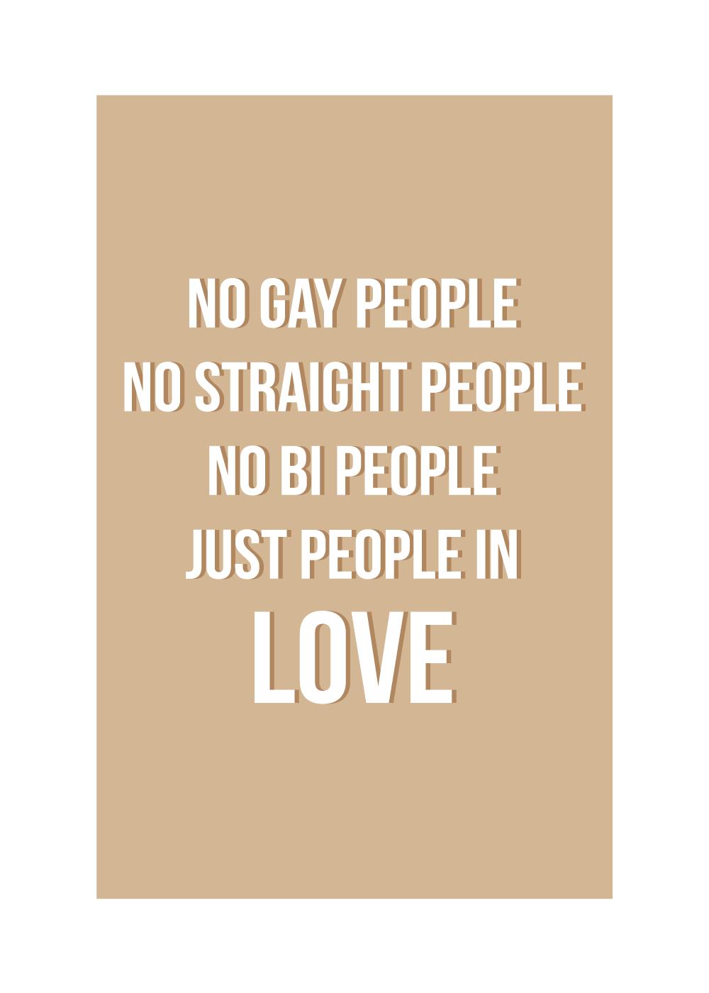 Just people in love - LGBT plakat