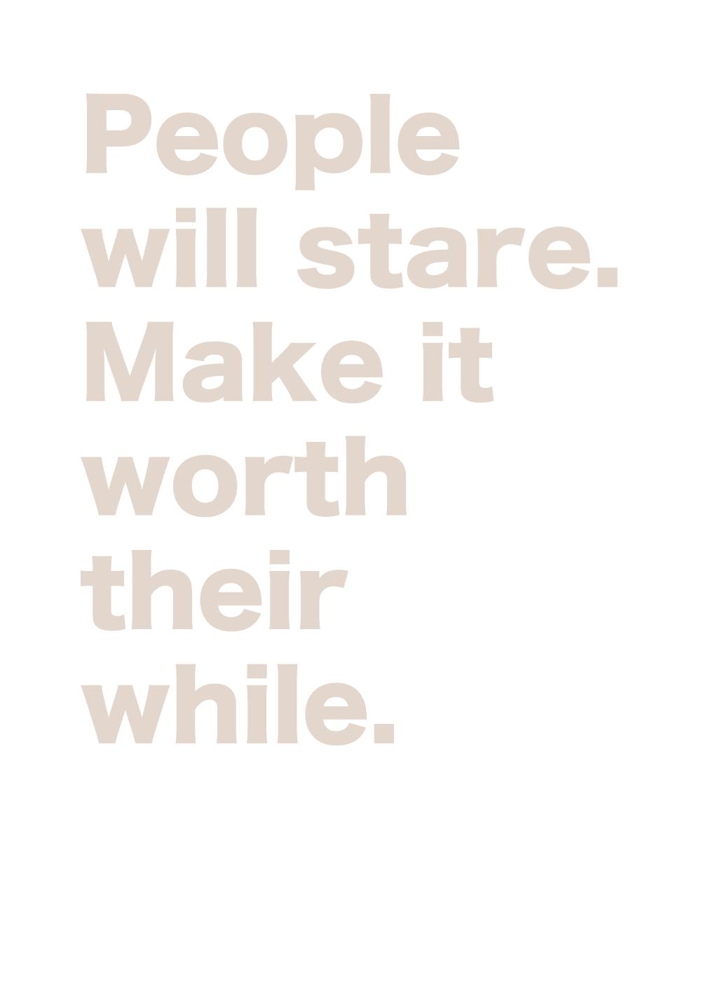 Billede af People will stare - LGBT plakat
