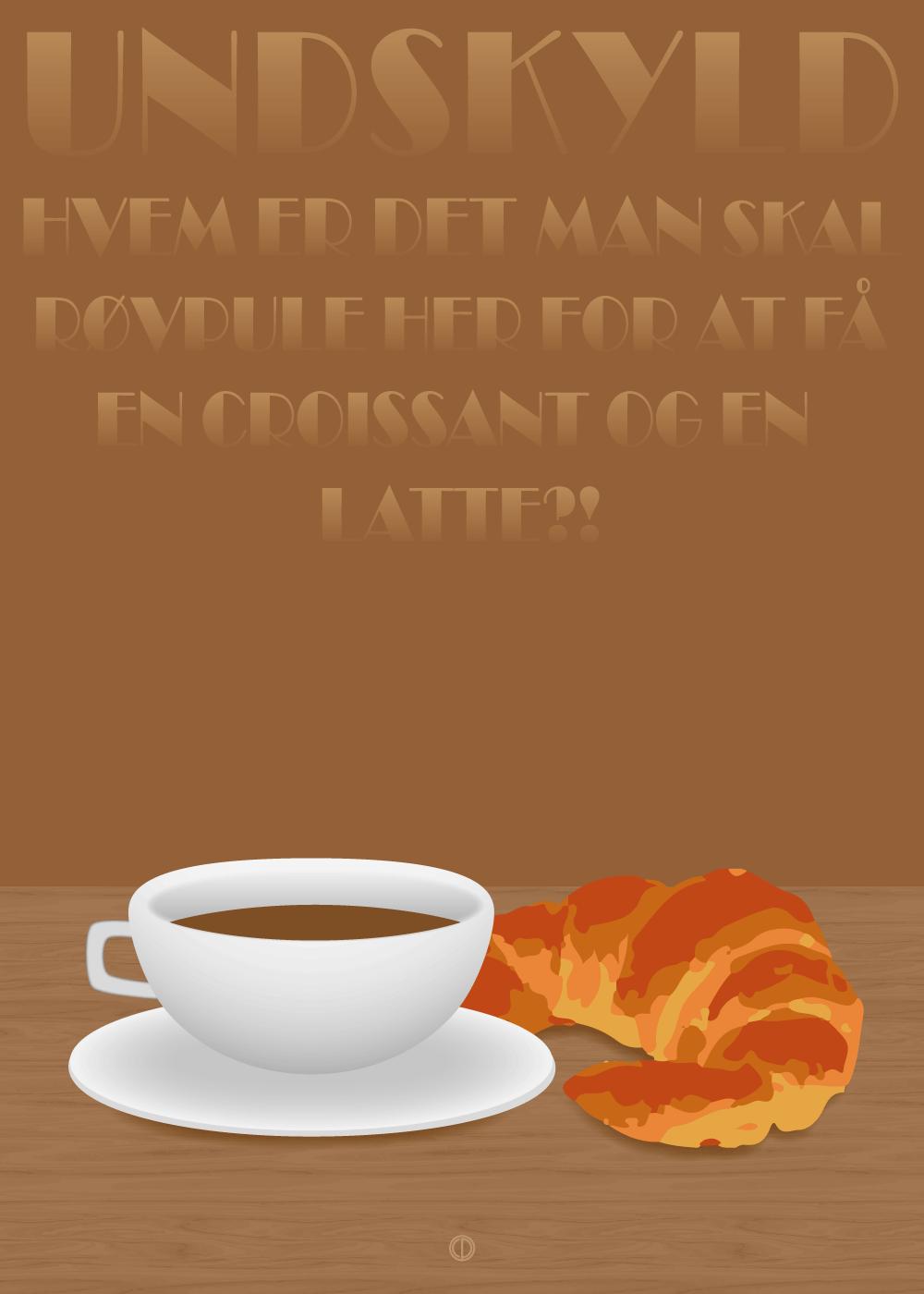 Køb En croissant og en latte