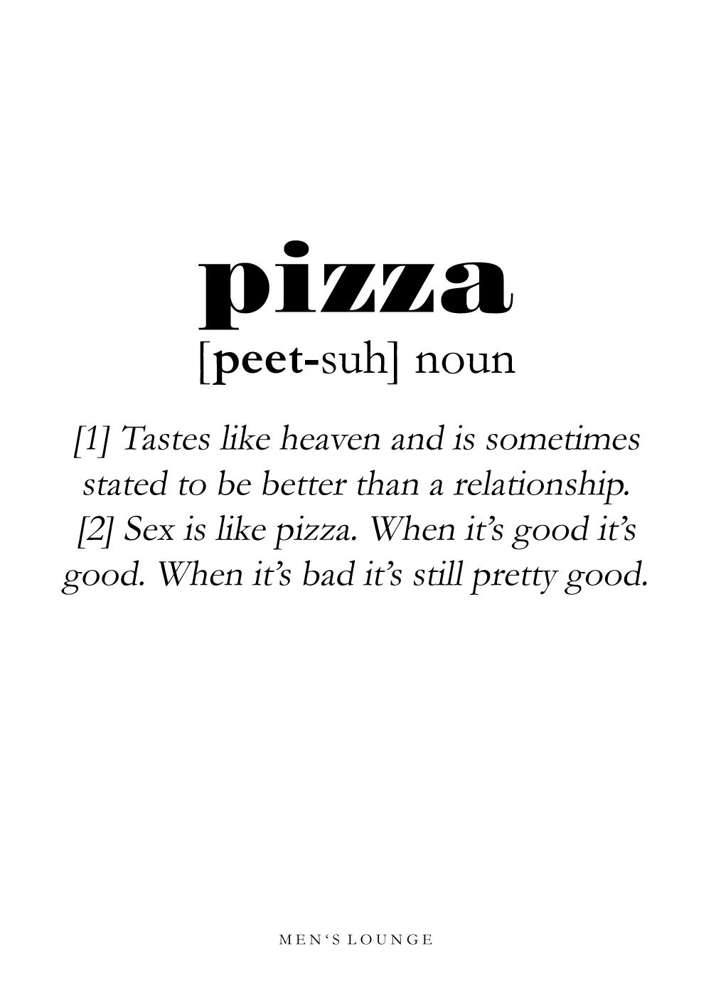 Billede af Pizza definition - Men's Lounge plakat