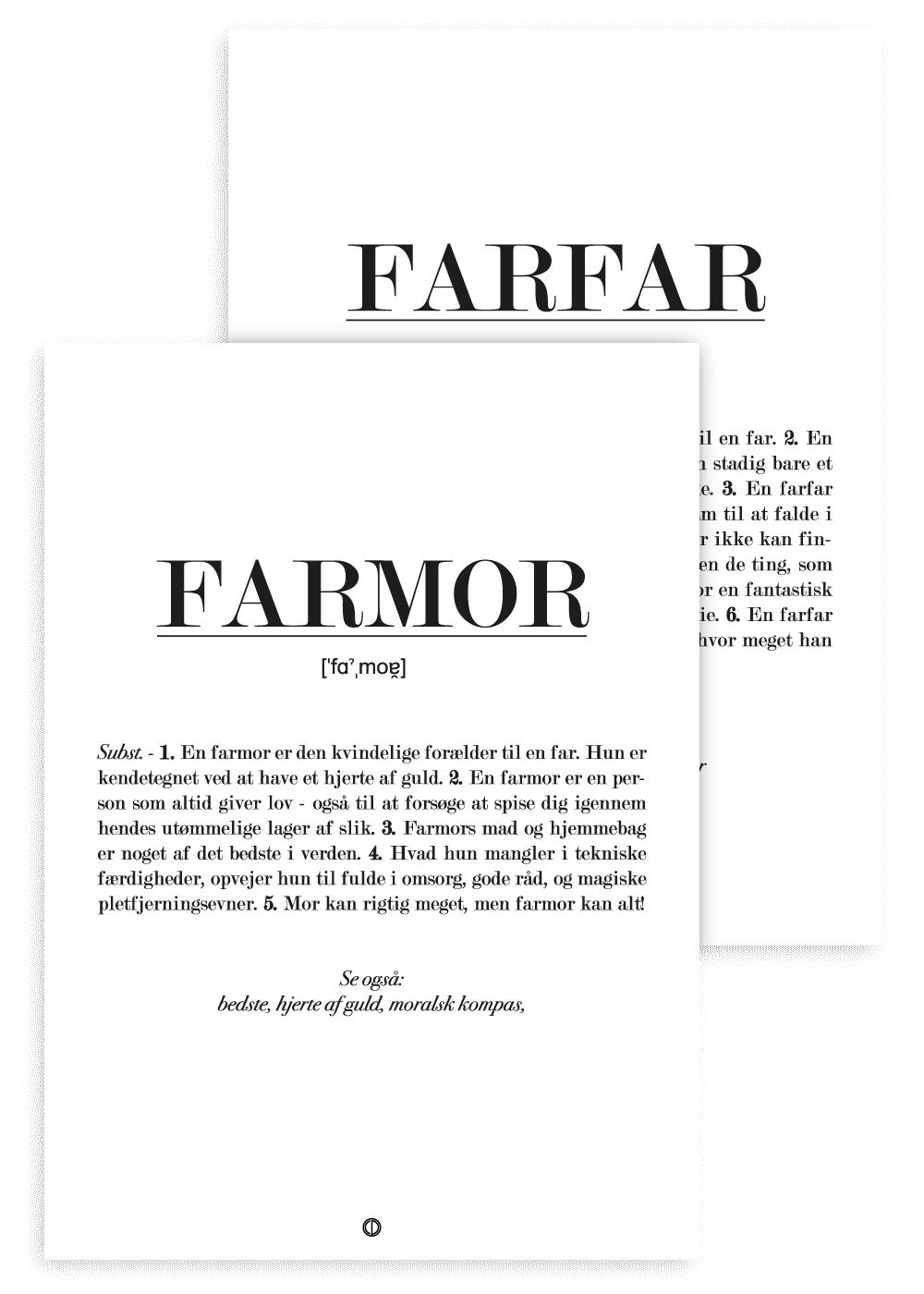 Farmor og farfar - Defintion (Pakketilbud)