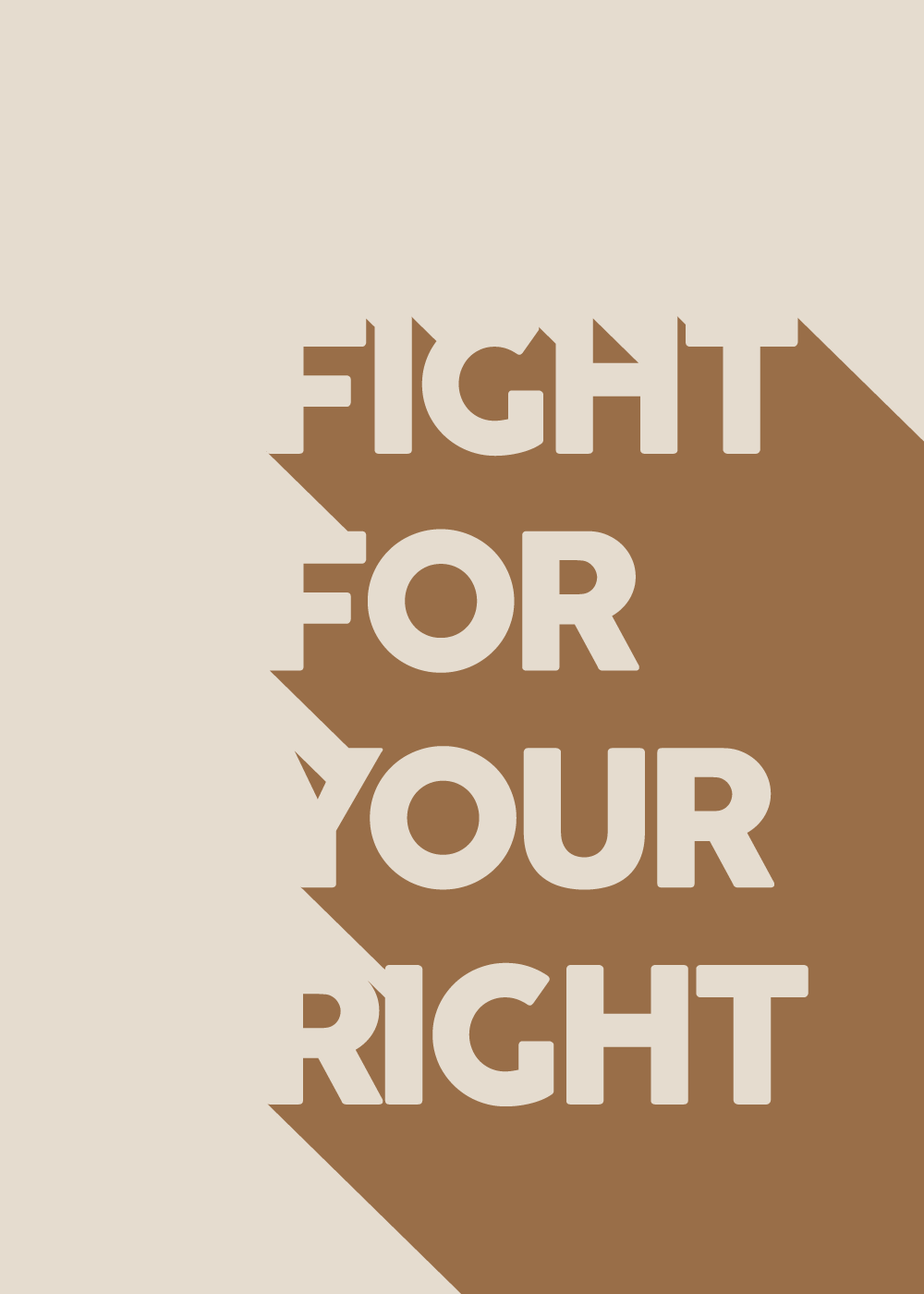 Fight for your right - plakat