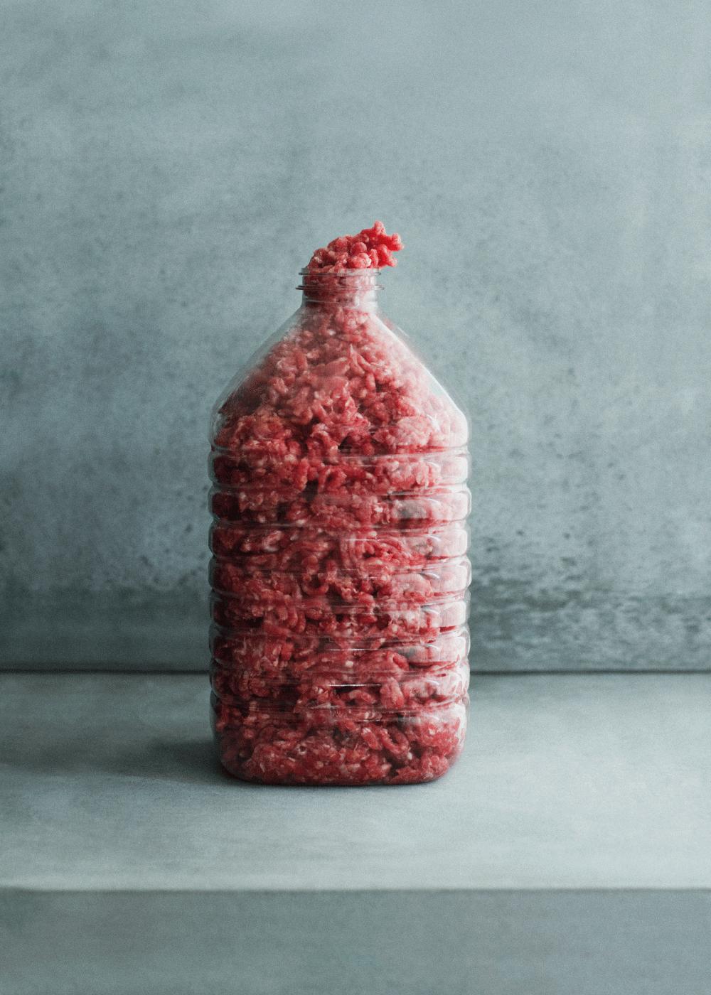 Billede af Bottle of meat - Moderne kunst plakat