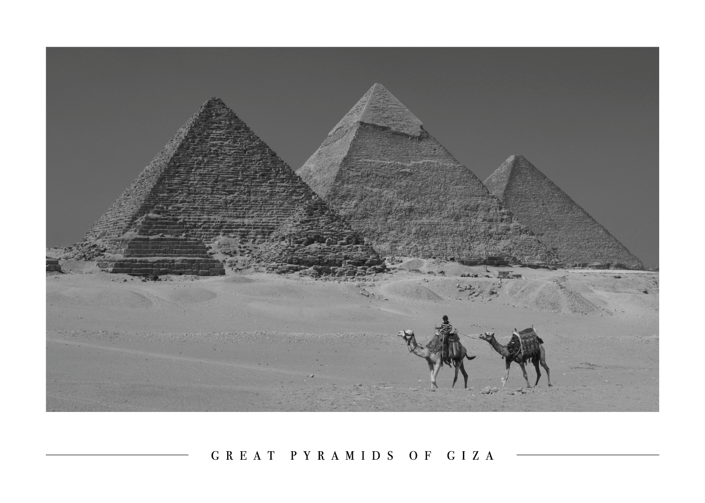 Pyramids of Giza - Plakat