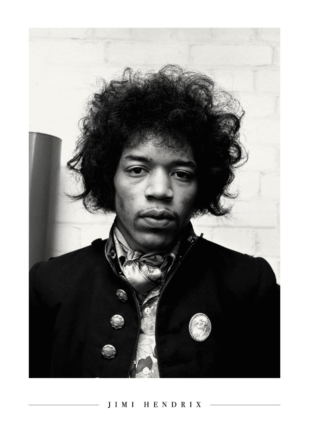 Billede af Young Jimi Hendrix - Plakat
