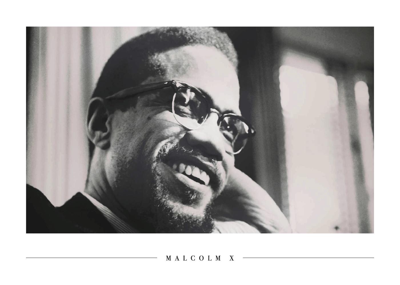 Billede af Malcolm X - Plakat