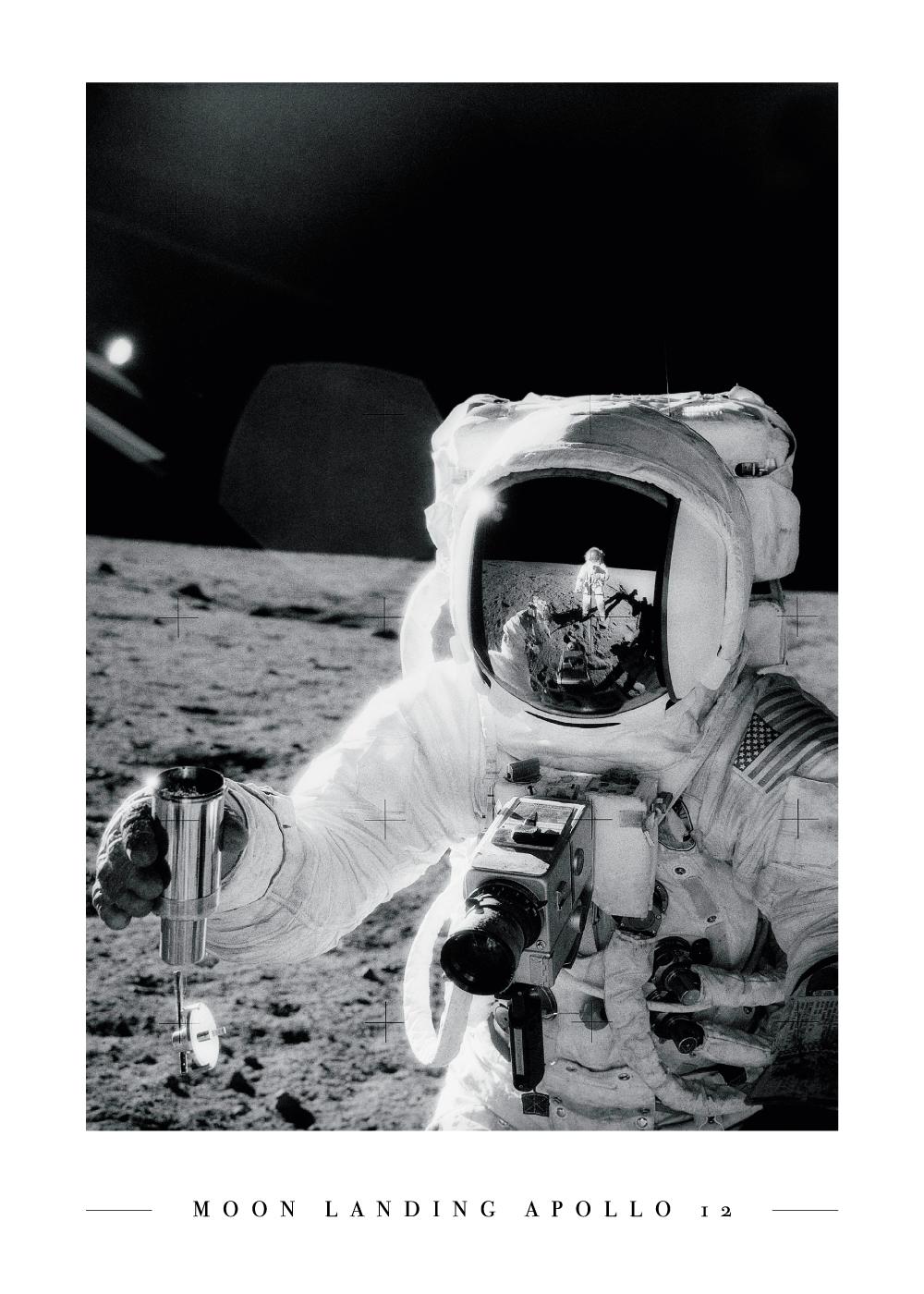 Moon landing Apollo 12 - Plakat