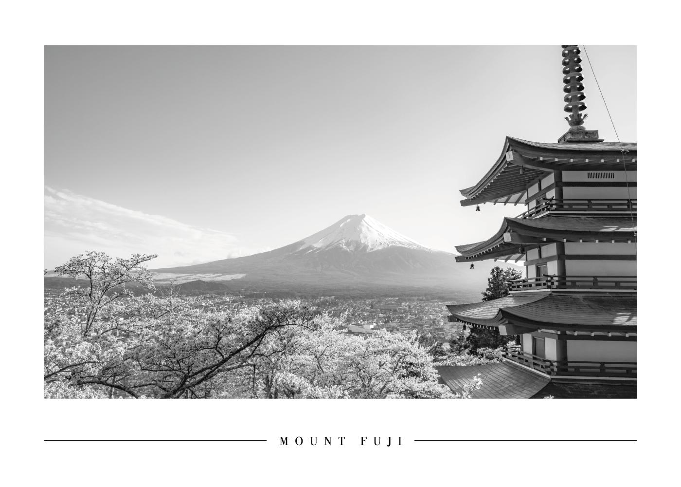 Billede af Mount Fuji - Plakat