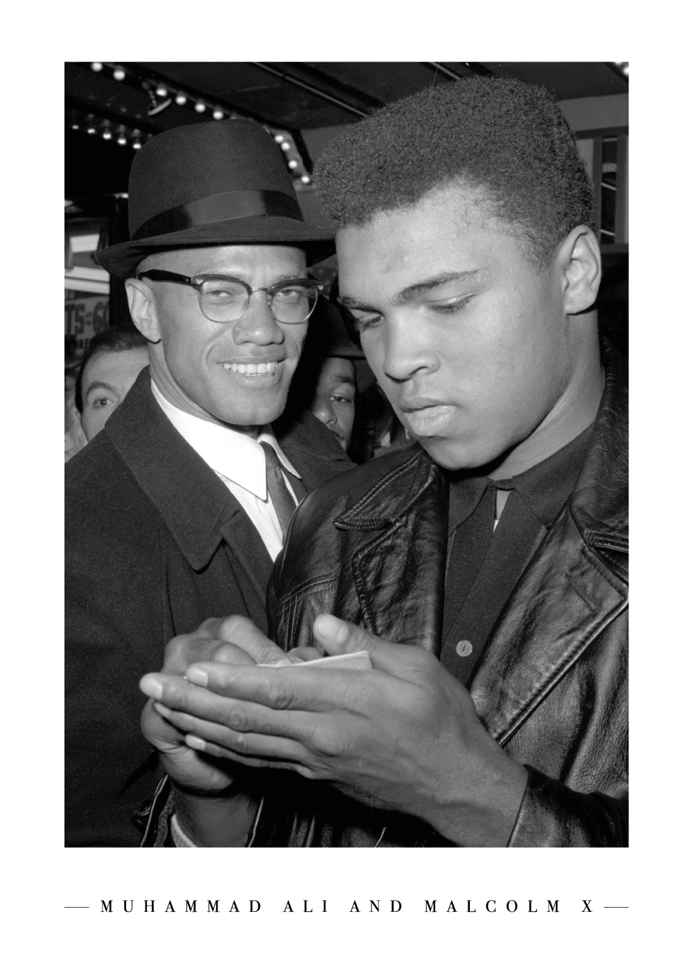 Malcolm X and Muhammad Ali - Plakat