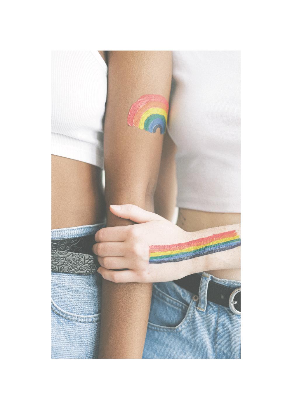 Billede af Woman loves woman - LGBT plakat