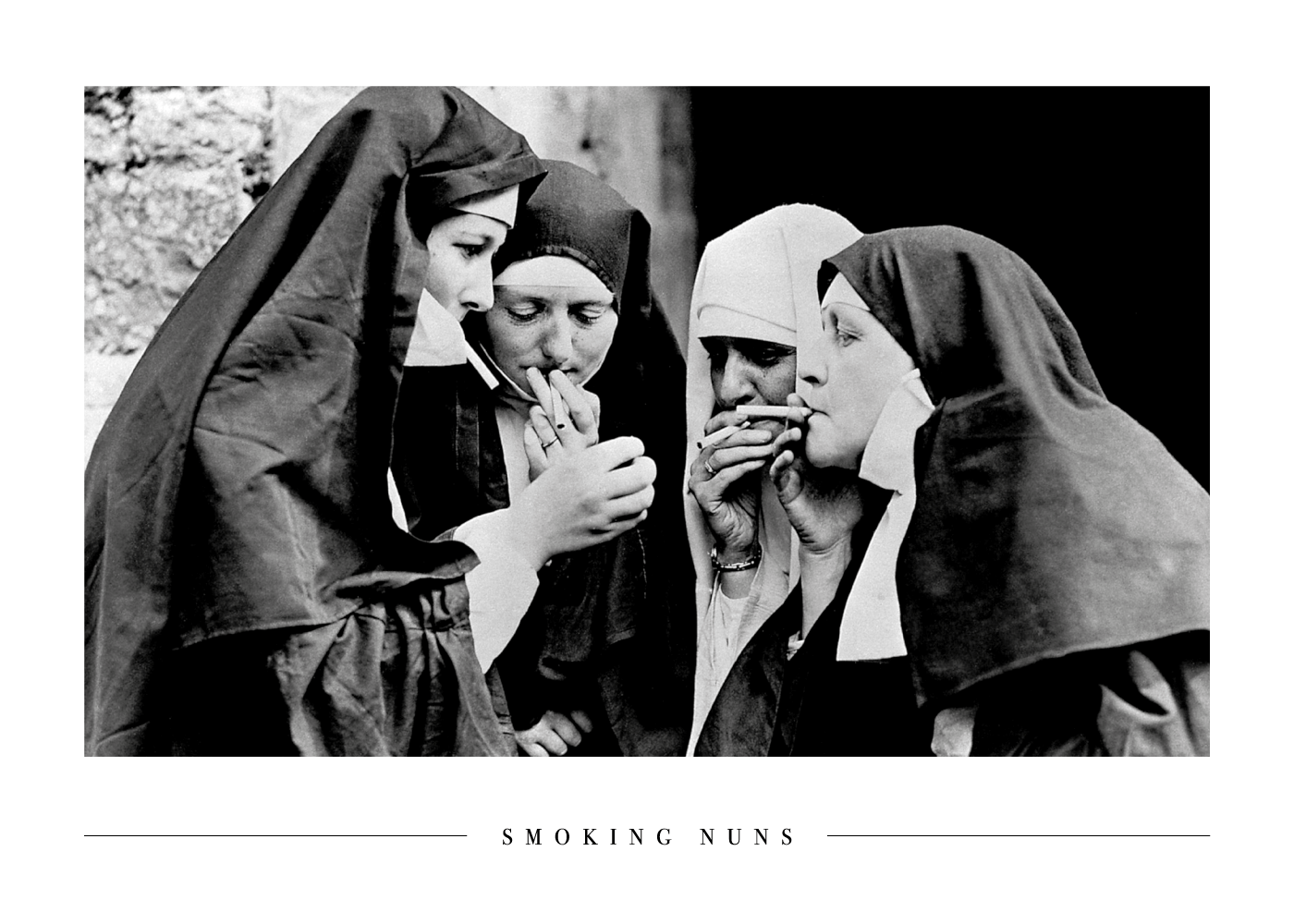Smoking nuns - Plakat