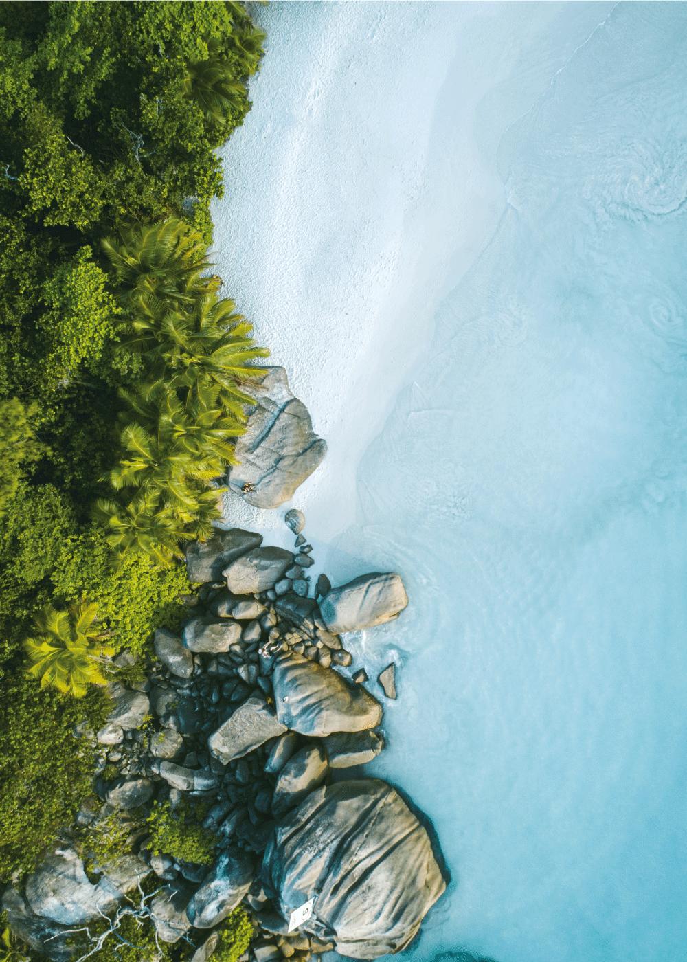 Billede af Trope strand - Airpixels plakat