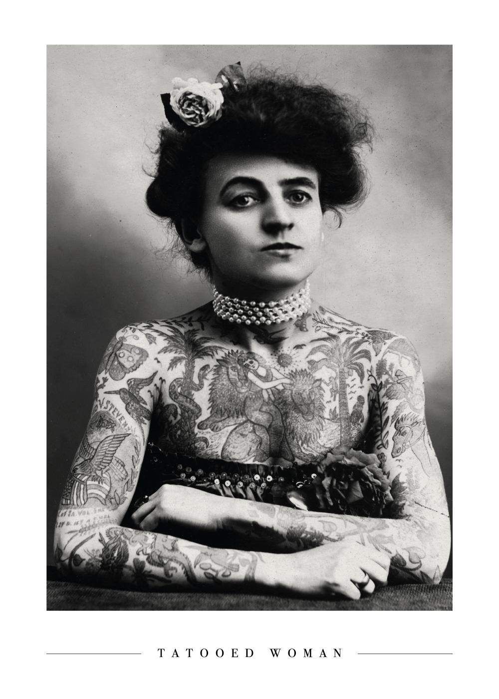 Billede af Tattooed woman - Plakat