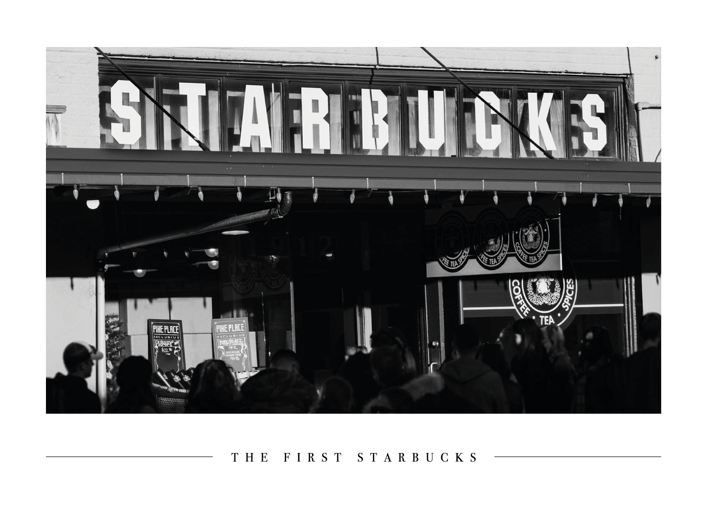 The first Starbucks - Plakat