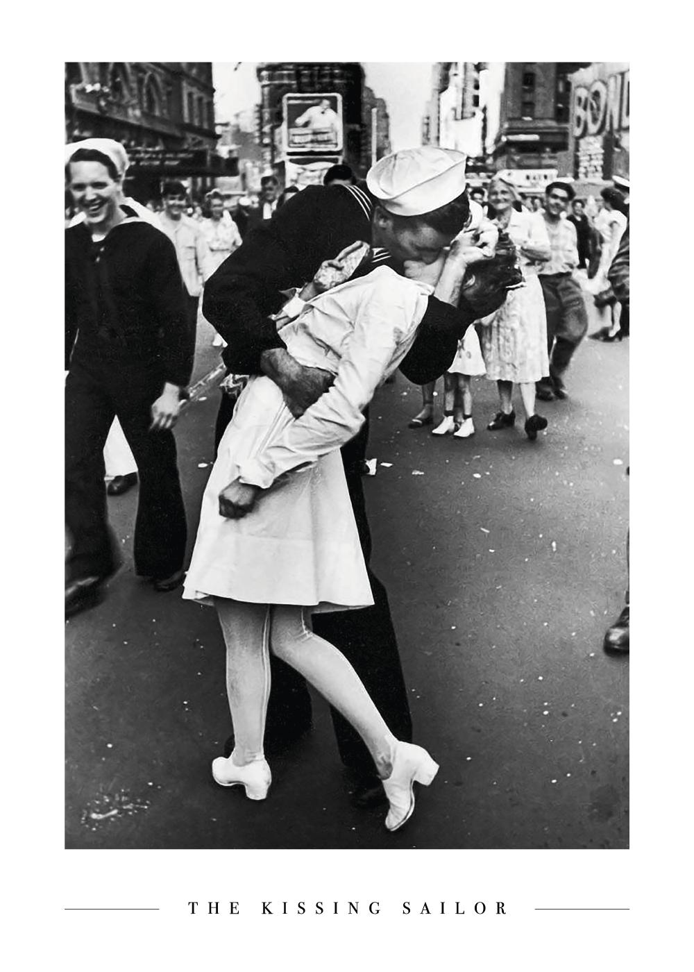 Billede af The Kissing Sailor - Plakat