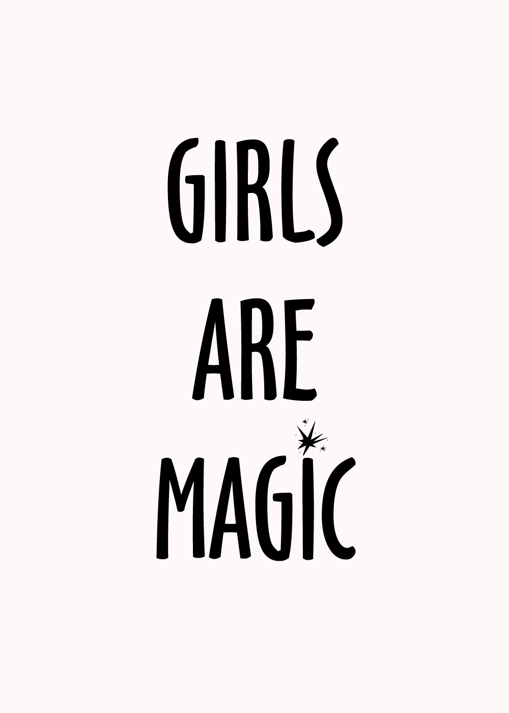 Billede af Girls are magic - LGBT plakat