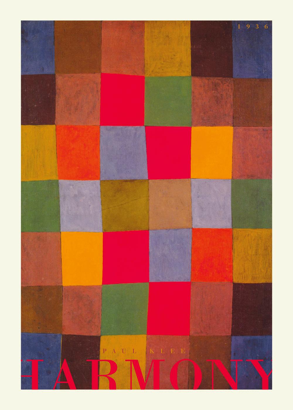 Billede af Harmony - Paul Klee kunstplakat