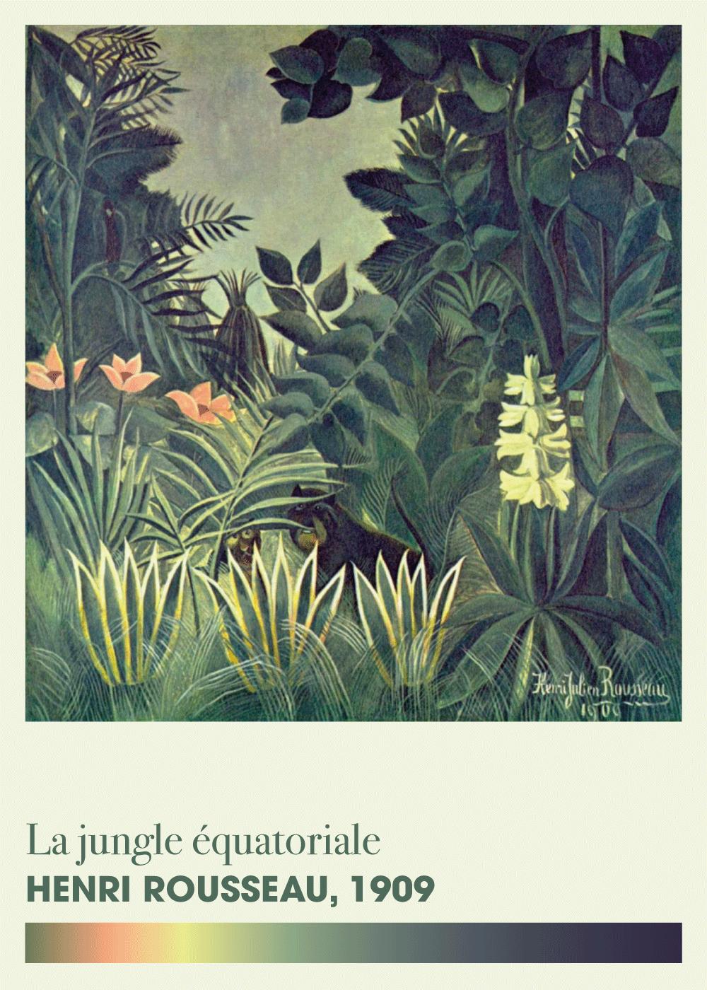 Billede af The Equatorial Jungle - Henri Rousseau kunstplakat
