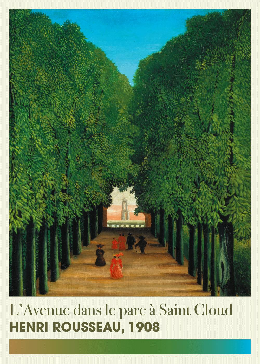 Billede af L'avenue dans le parc - Henri Rousseau kunstplakat