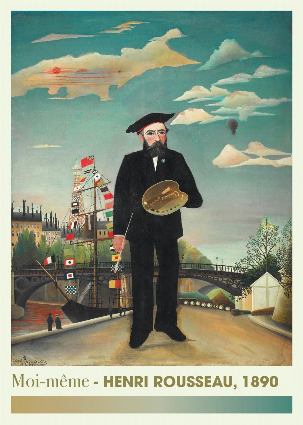 Billede af Moi-même - Henri Rousseau kunstplakat