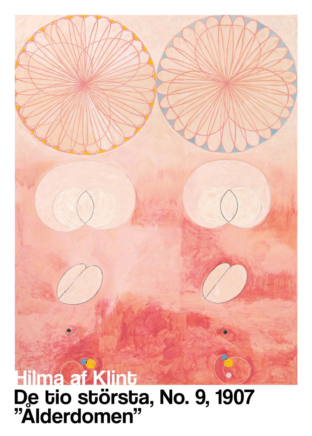 Billede af Ålderdomen - Hilma af Klint kunstplakat